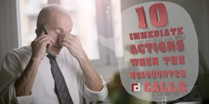 10 Immediate Actions When Headhunter Calls